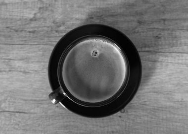Vintage looking black and white espresso coffee