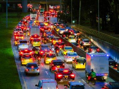 Traffic jam in avenue