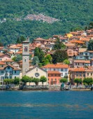 Photo Torno on Lake Como as seen from the ferry. Lombardy, Italy.