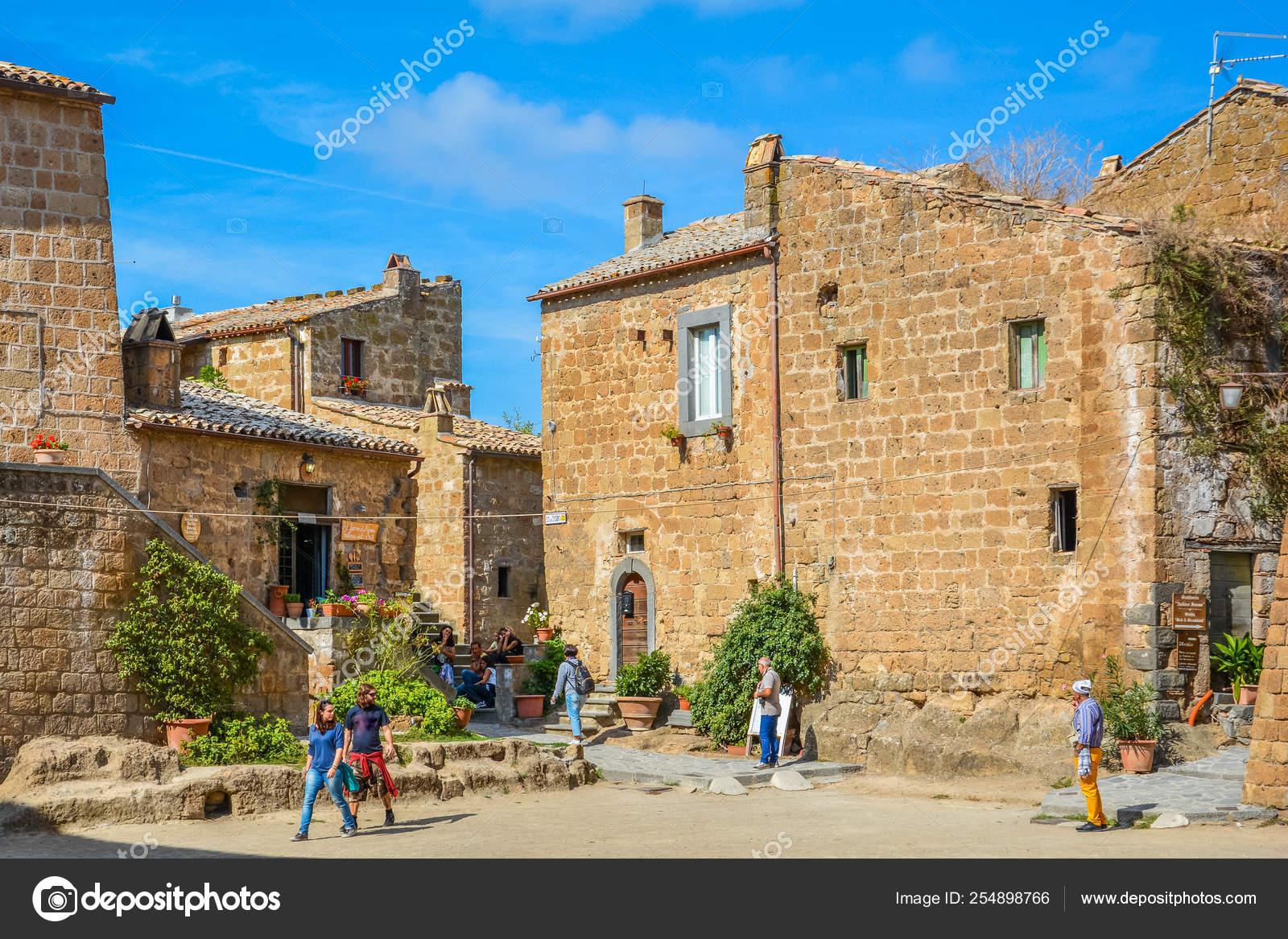 Civita Bagnoregio Famous Dying City Viterbo Province Lazio Italy