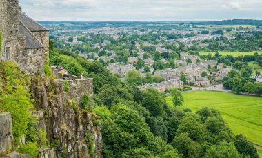 Panoramic view from Stirling Castle, Scotland.