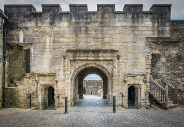 Main gate in Stirling Castle, Scotland. July-02-2017