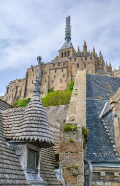 Scenic sight in Mont Saint Michel, Normandy, France.