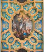 Mučednictví svaté Anastasie Michelangelo Cerruti v Bazilii Sant  Anastasie nedaleko Palatinu v Římě, Itálie. Březen-23-2019