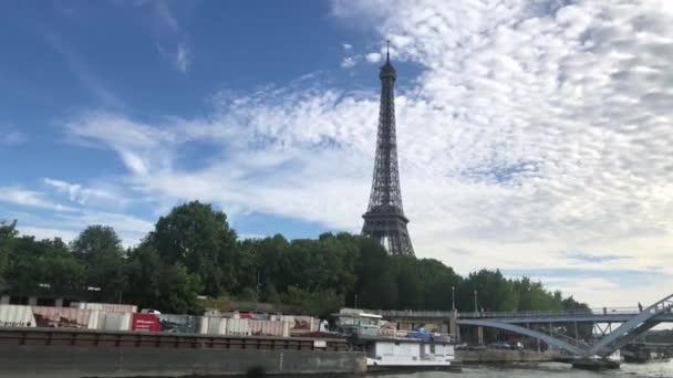 Seine River Cruises Eiffel Tower in summer
