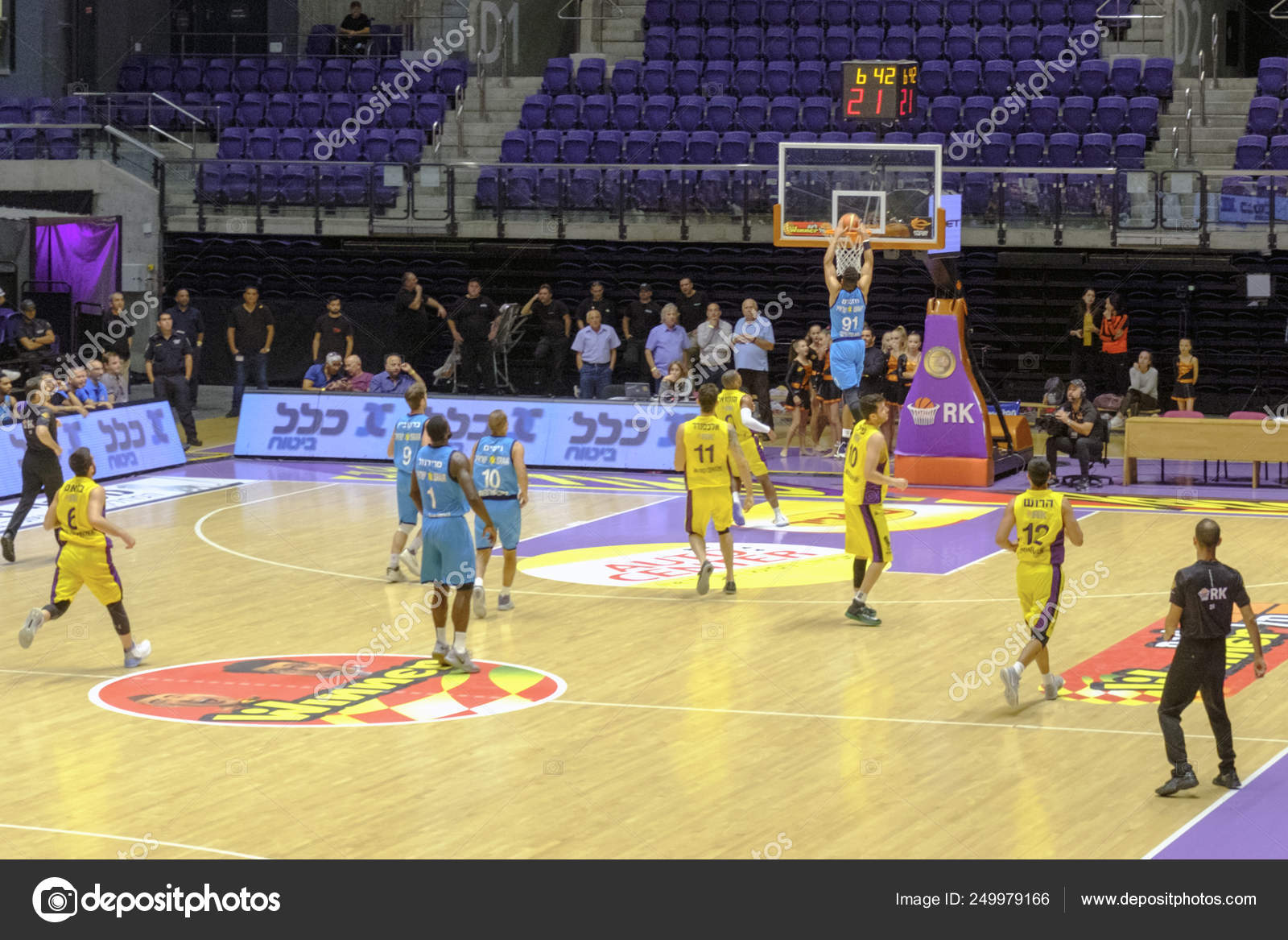 Israel Holon Toto Arena October 2017 Game Basketball Hapoel