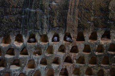 tomb with ashes columbarium excavated