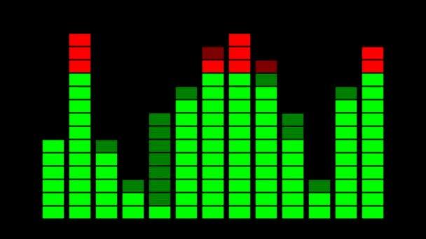 Vu metr digitální zvuk zobrazení 2d animace Vu metr digitální zvuk zobrazení