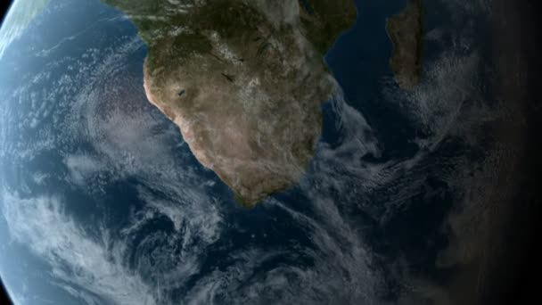 Orbiting over Africa 3D animation