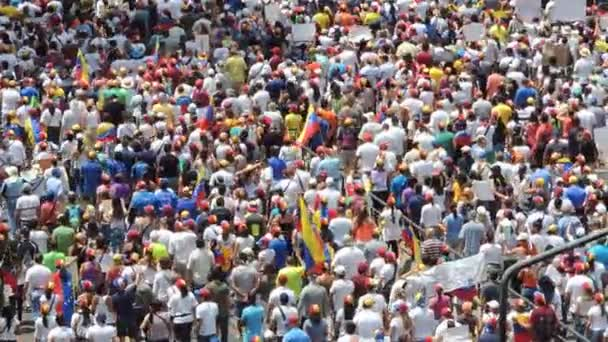 Protest for freedom in Venezuela. Against communism, Against socialism. Students and people Protest for freedom in Caracas Venezuela, circa march 2014