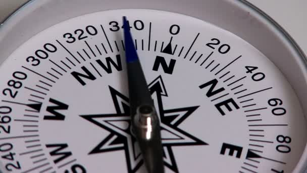 Compass orientation to the north in extreme close-up