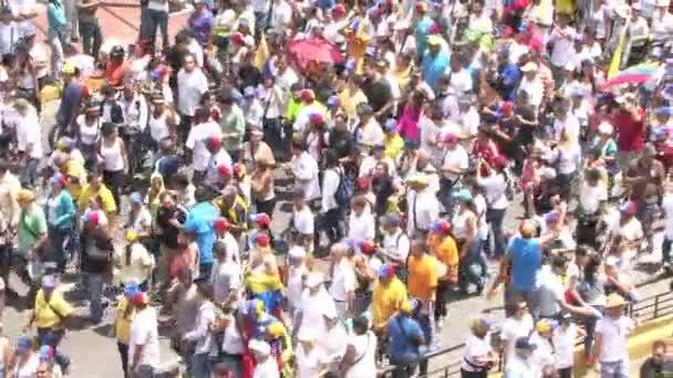 Protest proti svobodě ve Venezuele. Proti komunismu, proti socialismu. Studenti a lidé protestují za svobodu v Caracas Venezuele, cca březen 2014