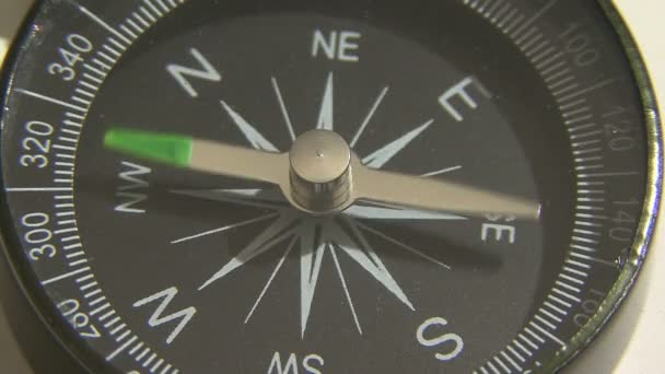 Compass display close up. Compass orientation to the north