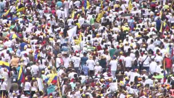 Protest für Freiheit in Venezuela, gegen Kommunismus, gegen Sozialismus. caracas venezuela circa 2016 protest für freiheit in venezuela. Großer Andrang