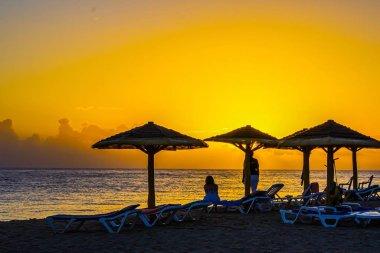 Dawn over Caribbean shore