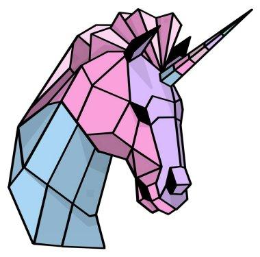 Geometric Mhytical Coloured Unicorn