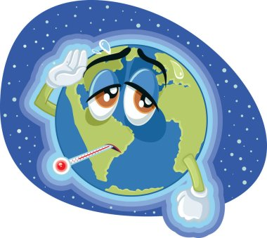 High Temperature Global Warming Earth Concept Illustration