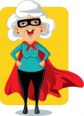 Super Granny Cartoon Vector Illustration