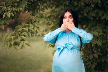 Pregnant Woman with Heartburn Acid Reflux Symptom