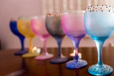 colored cup goblet souvenirs
