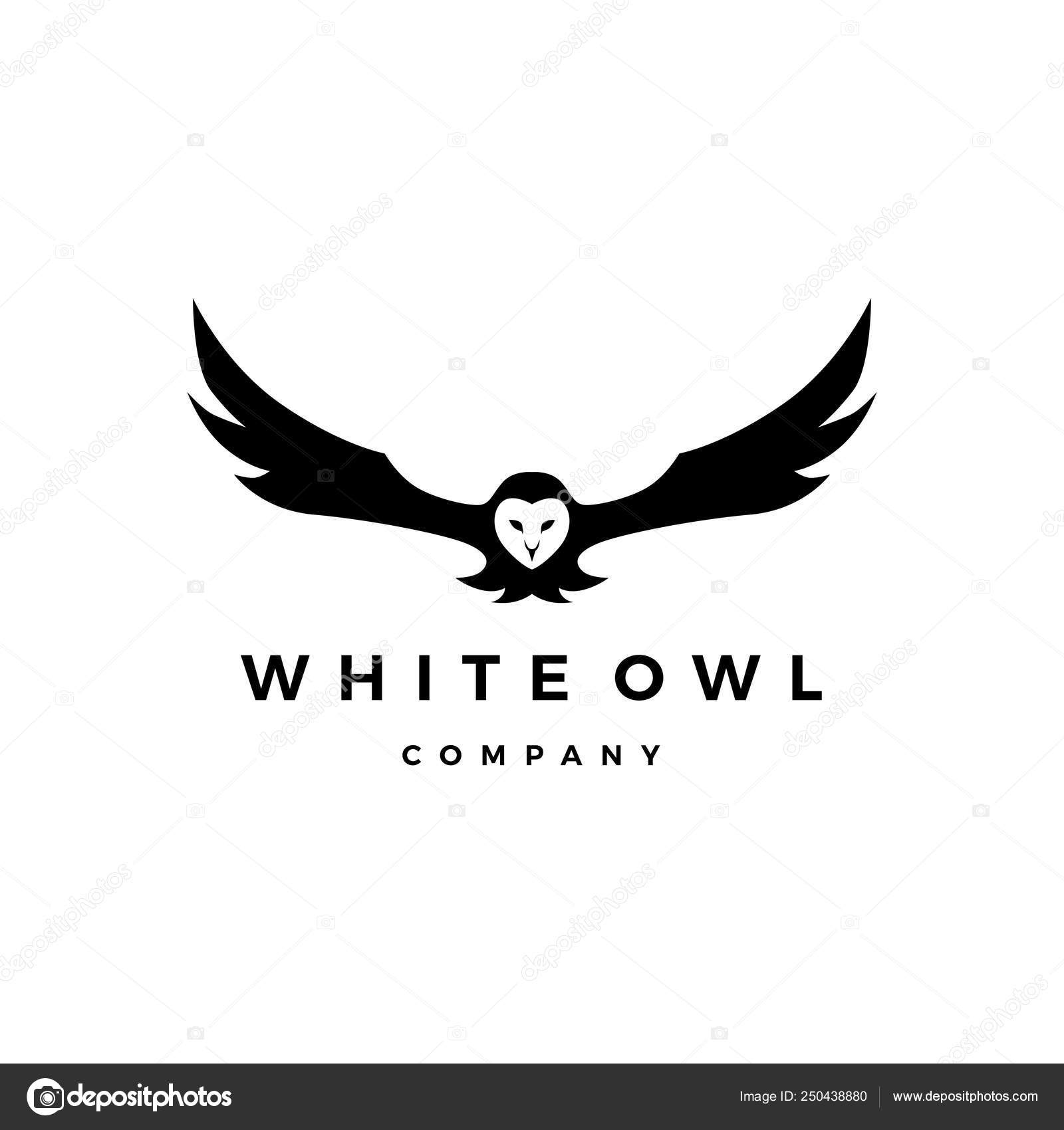 White Owl Logo Vector Icon Illustration Stock Vector C Gagavastard 250438880