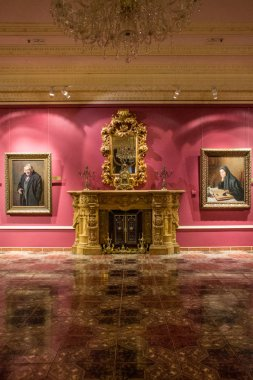 Moscow / Russia - July, 5, 2019: interiors of Shilov Gallery of fine arts