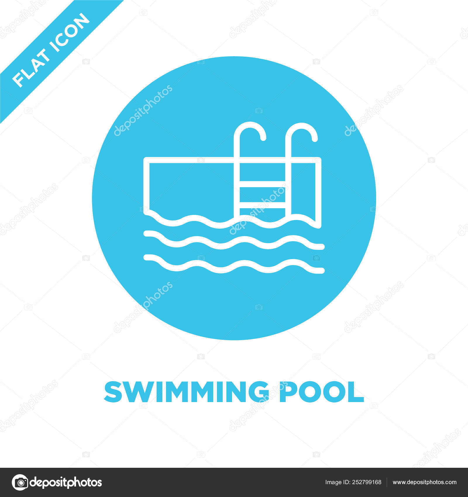 Swimming pool icon vector from seasons collection. Thin line ...