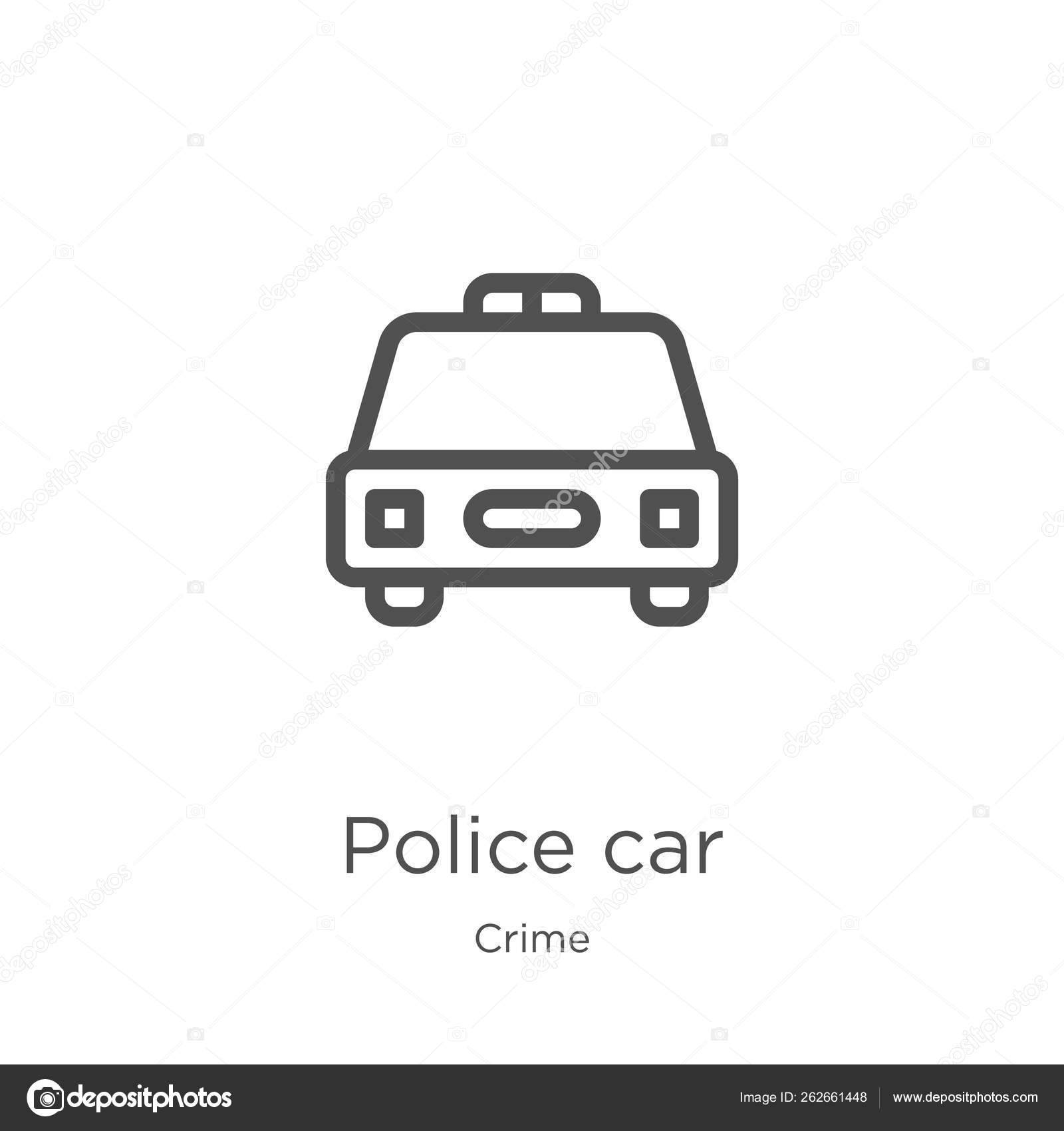 Police Car Website >> Police Car Icon Vector From Crime Collection Thin Line Police Car