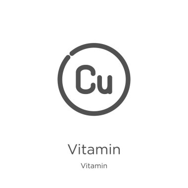 vitamin icon vector from vitamin collection. Thin line vitamin outline icon vector illustration. Outline, thin line vitamin icon for website design and mobile, app development.