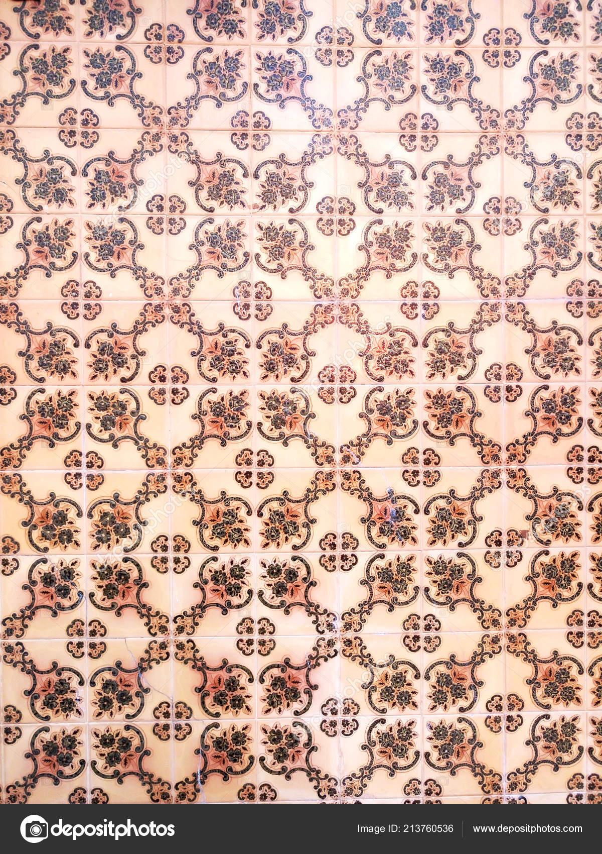 Azulejos Mosaico Azulejo Portugal Clasico Tradicional Marron Con - Azulejos-con-dibujos