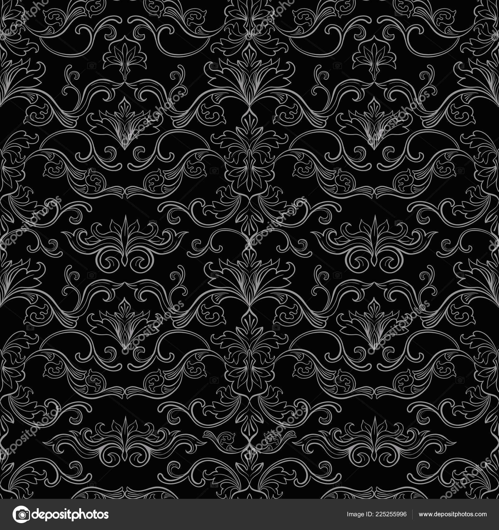 Damask Vector Seamless Pattern Vintage Style Wallpaper