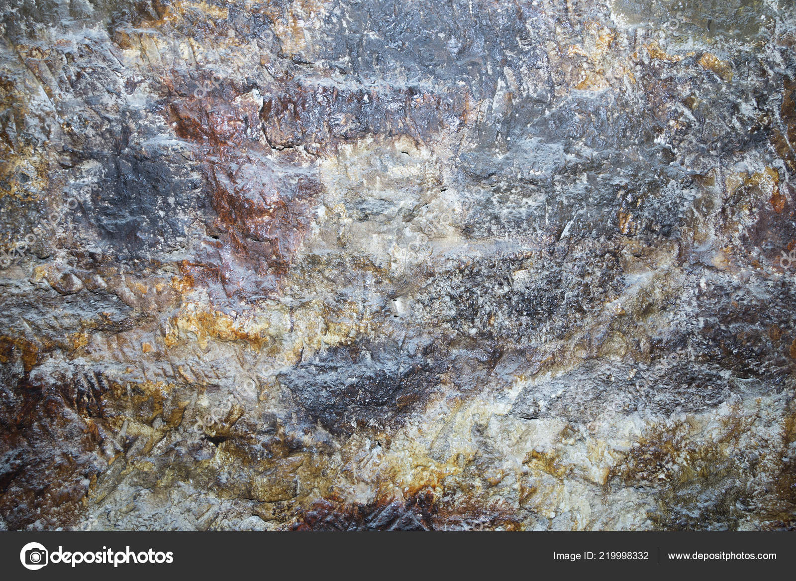 Artificial Wall Stone Cave Image May Used Background Stock Photo C Indigolotos 219998332