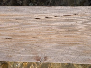 the texture of the board of the old wooden pier