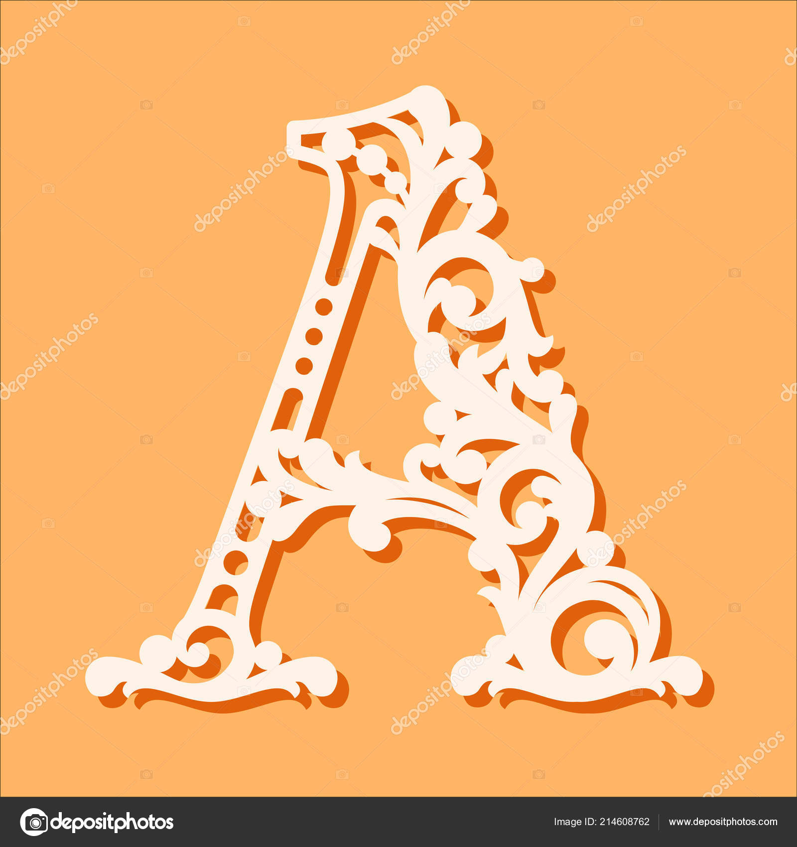fancy letter s template  Laser Cut Template Initial Monogram Letters Fancy Floral ...