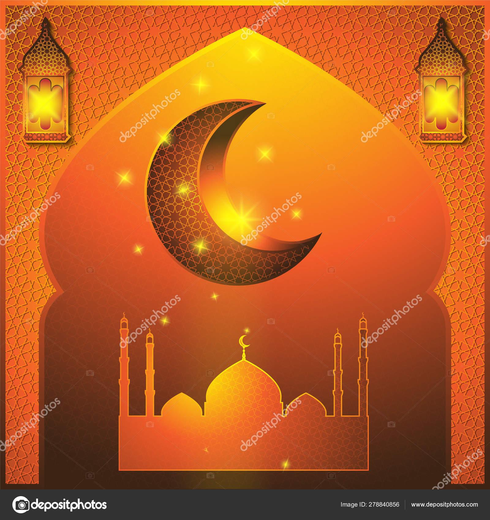Ramadan Kareem abstract illustration  Window with islamic mosque