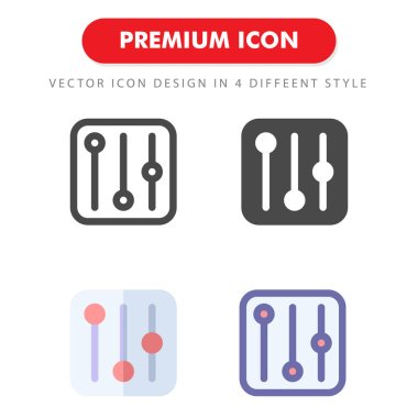 Equalizer icon pack isolated on white background. for your web site design, logo, app, UI. Vector graphics illustration and editable stroke. EPS 10. icon