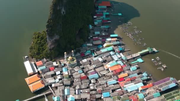 Panyee fisherman floating village in Phang Nga, Thailand