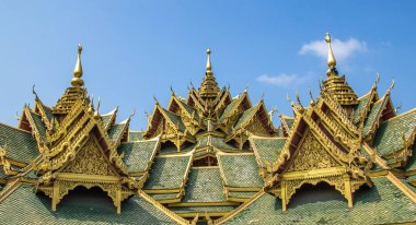 Temples in Ancient City Muang Boran in Bangkok Thailand
