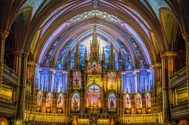 Notre Dame Cathedral in Montreal in Canada