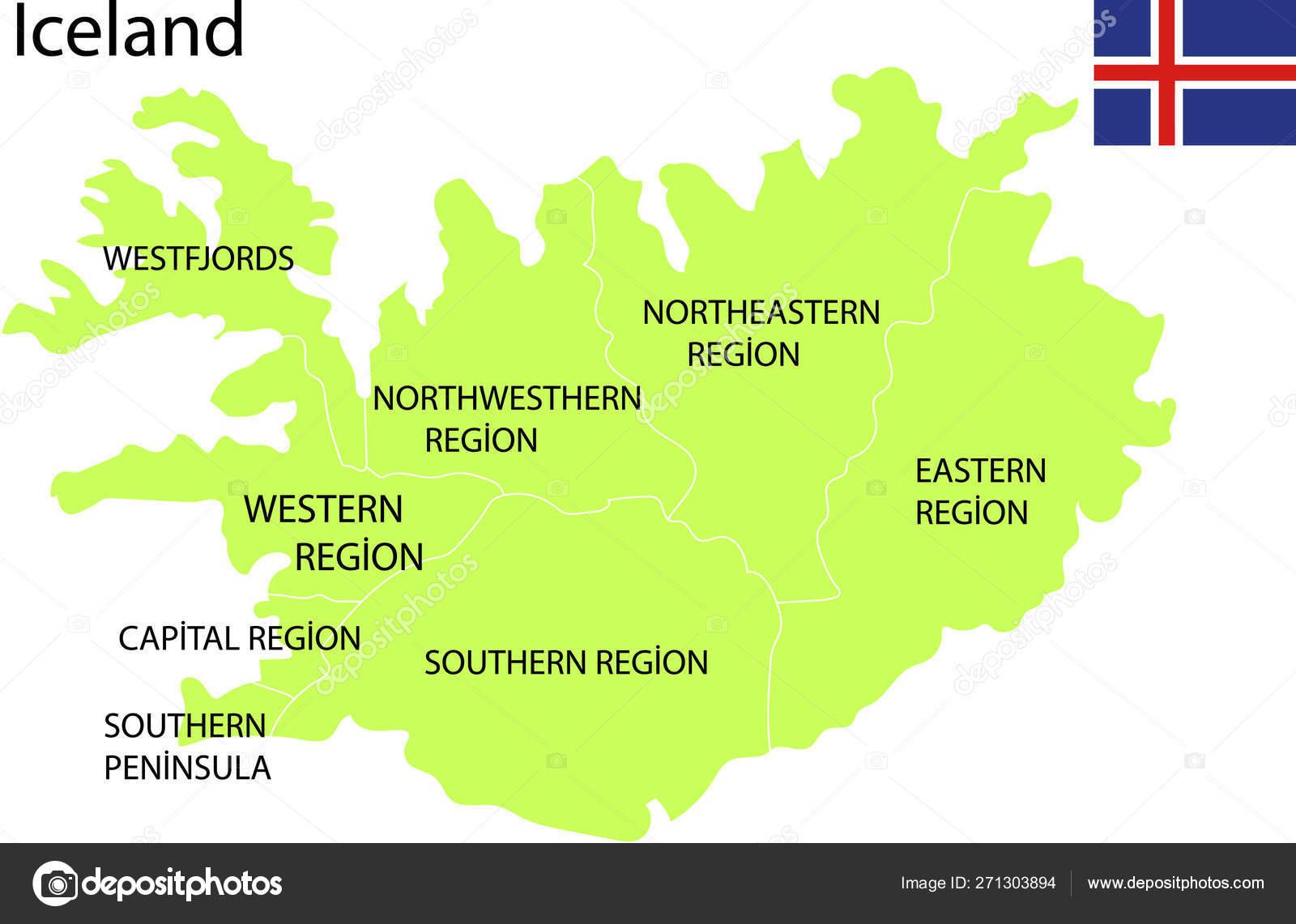 Iceland Map Vector Illustration — Stock Vector © marsvector ...