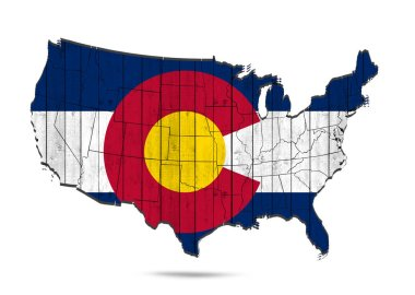 Colorado   flag with copy space for your text or images