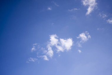 Blurred sky blur or azure sky and white cloud background, beautiful nature on summer