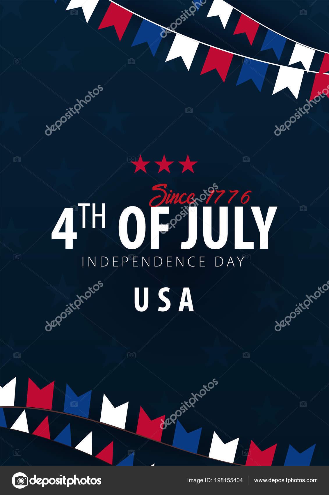 Poster Van Fourth Of July 4th Of July De Dag Van De