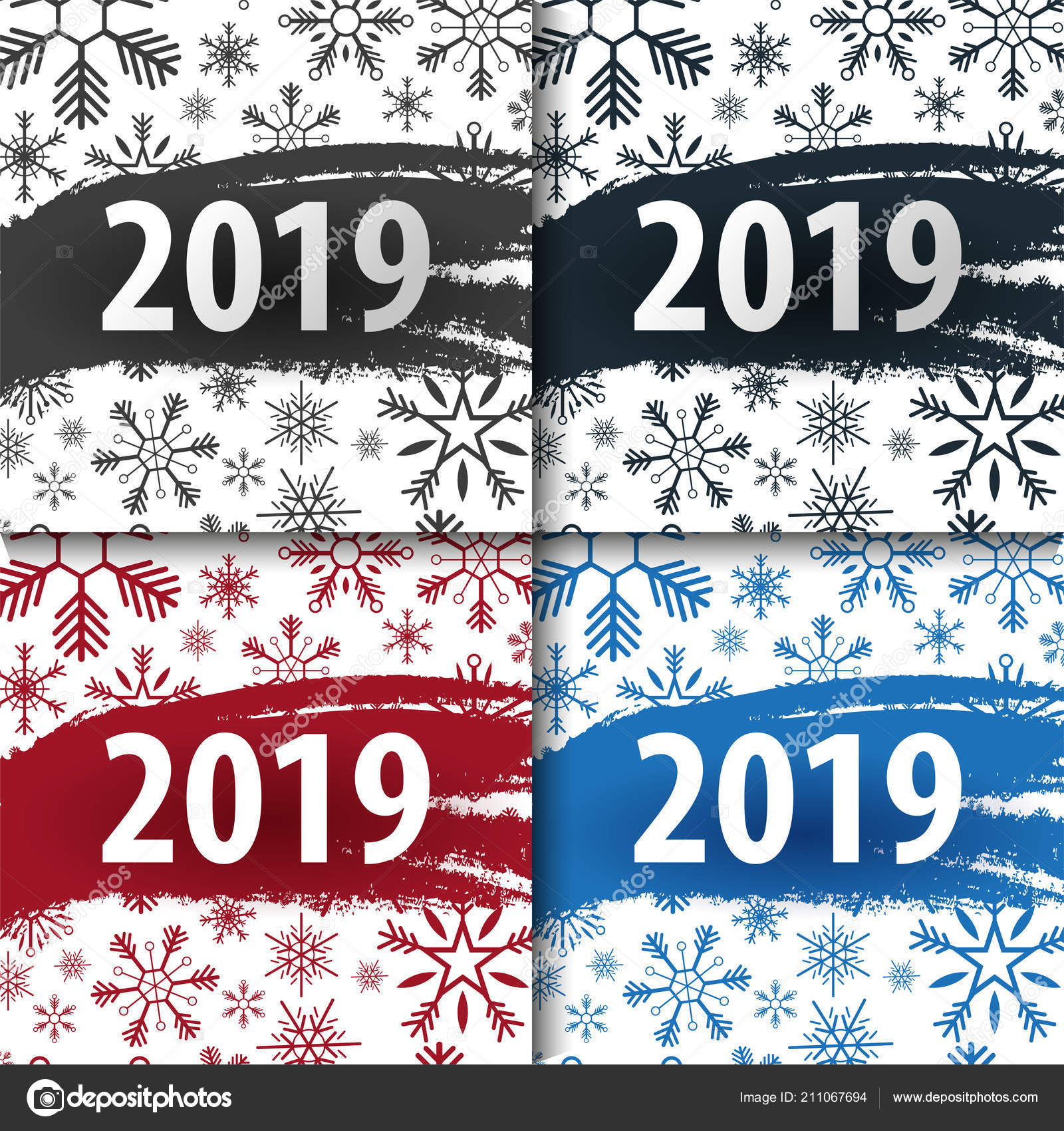 2019 happy new year background with snowflakes for your seasonal flyers and greetings card or christmas themed invitations vector by leo_design