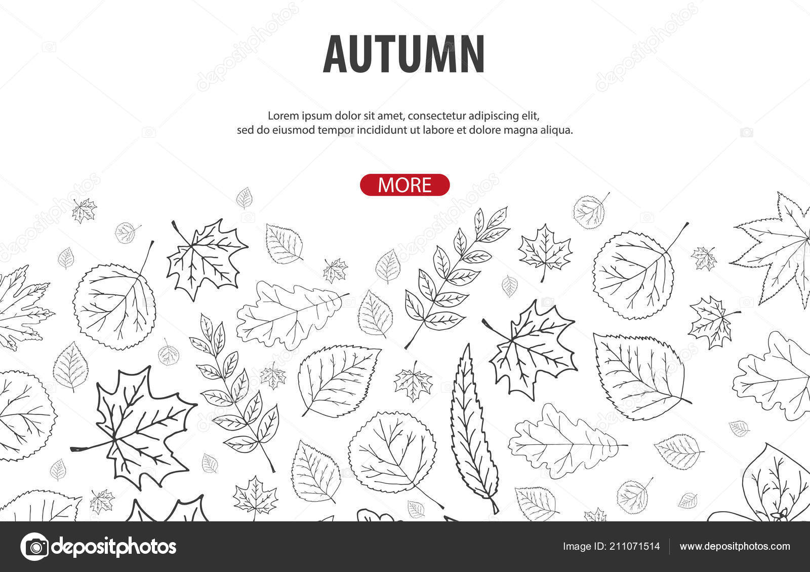 Autumn Backgrounds with Hand-draw Pumpkins  Thanksgiving day