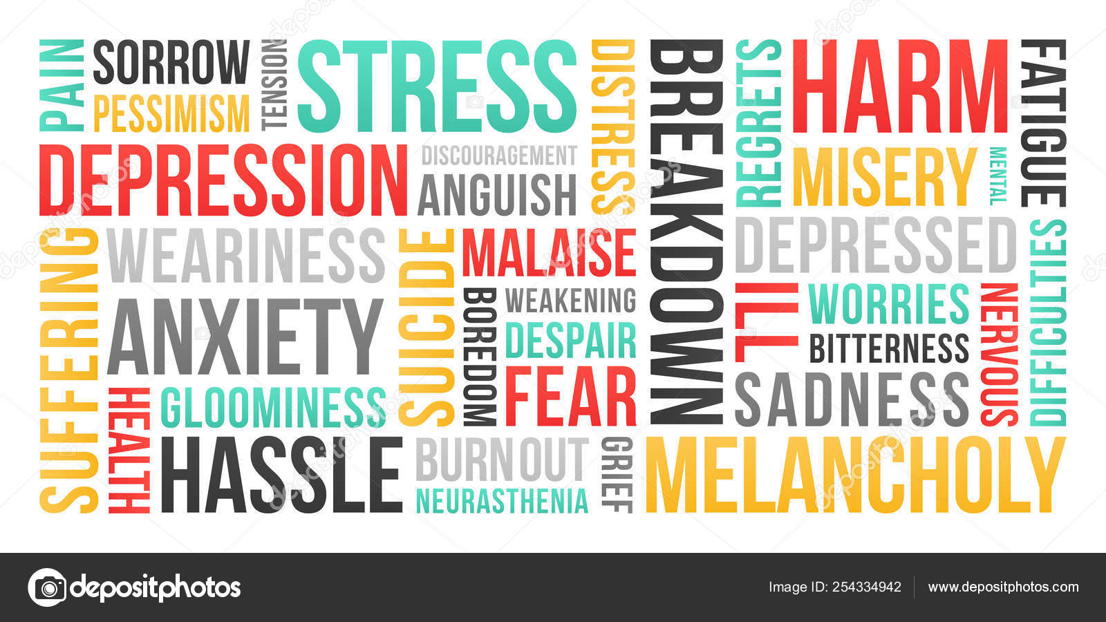 Stress Depression Anxiety Word Cloud Stock Vector C Jerome Cronenberger 254334942