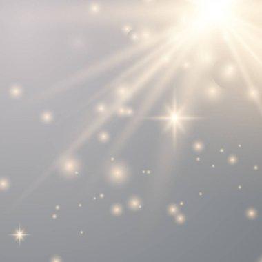 Vector transparent gold sunlight