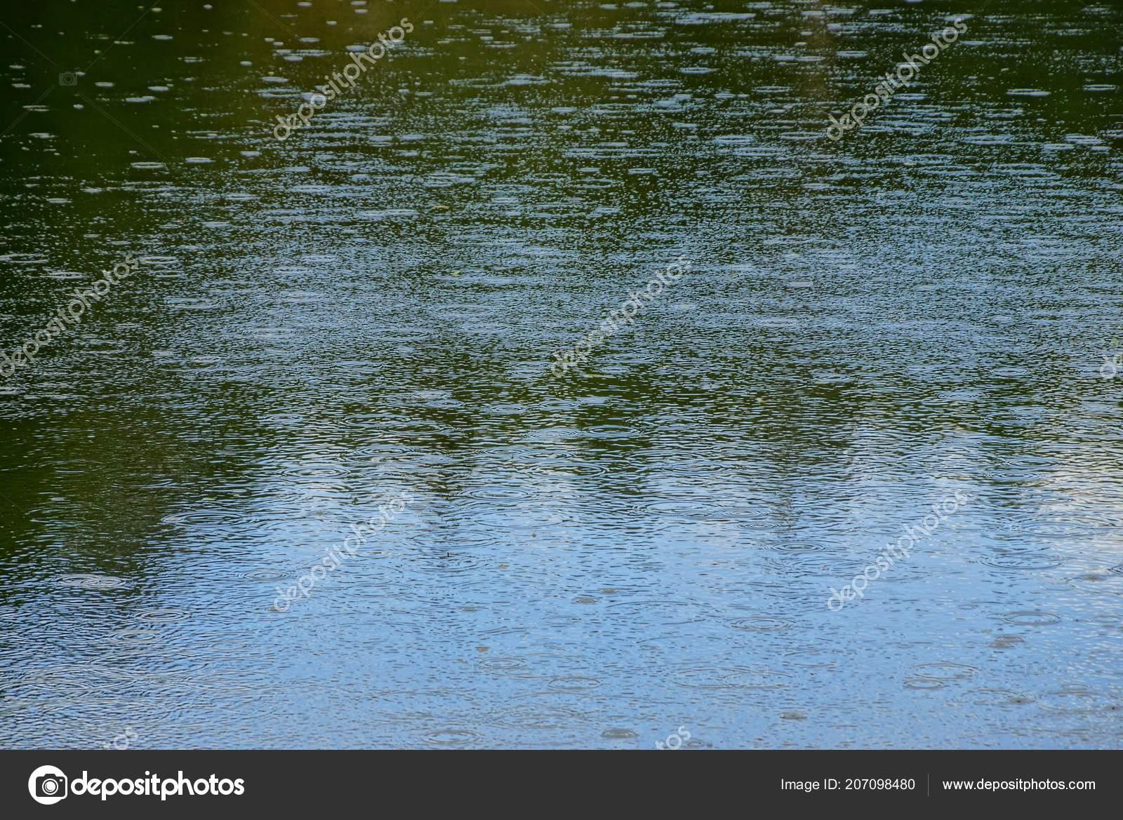acqua grigio texture verde laghetto sotto pioggia foto