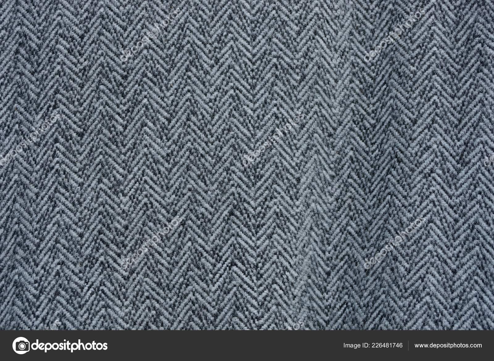 ef2735019a75 Trama di tessuto a righe nero grigio di un pezzo di lana — Foto di AnatolX