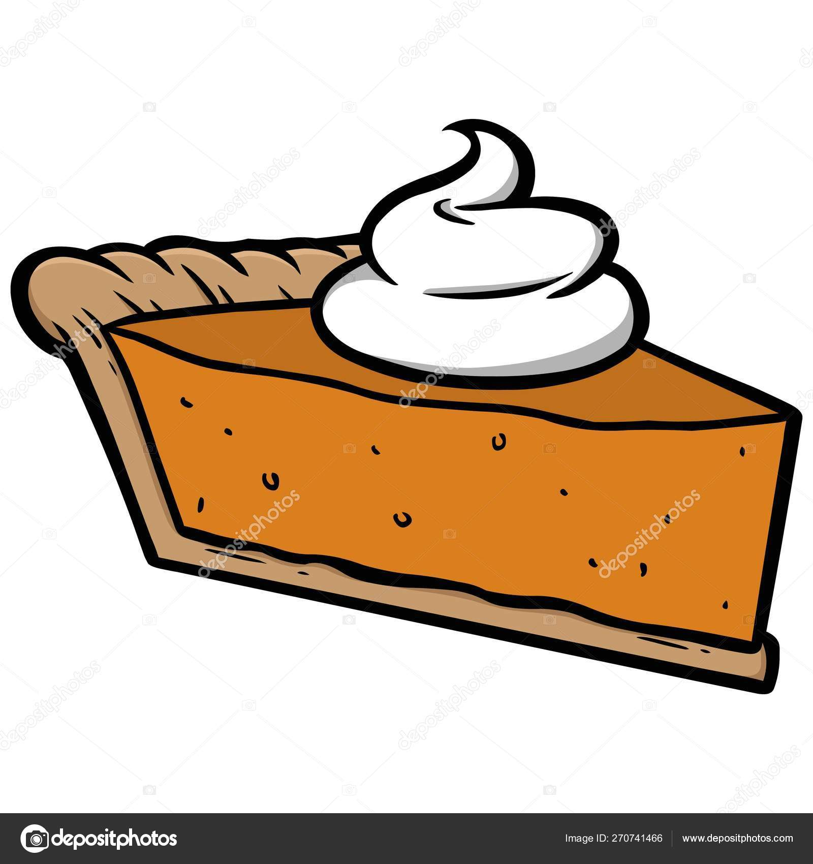 Pumpkin Pie Cartoon Illustration Pumpkin Pie Vector Image By C Larryrains Vector Stock 270741466